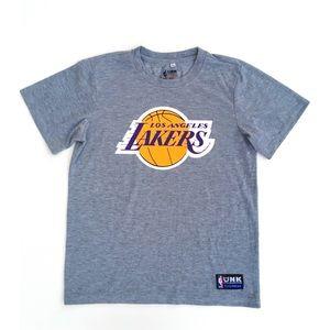 UNK NBA Los Angeles Lakers Gray T Shirt Top Medium